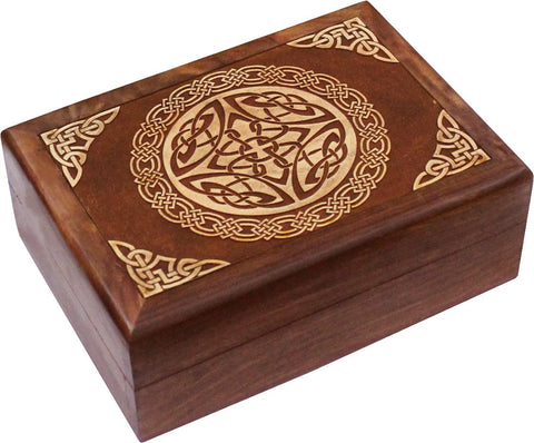 Celtic Carved Wooden Box - Eldertree Apothecary