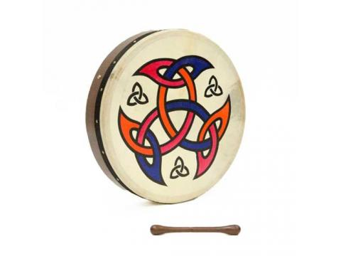 "Bodhran 18"" Tuneable - Celtic Shield - Eldertree Apothecary"