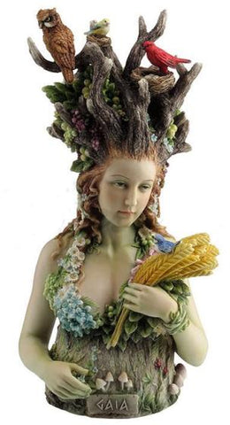 Gaia Bust 26cm (Colour) - Eldertree Apothecary