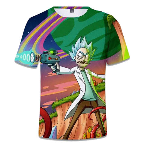 T-shirt rick et morty