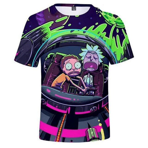 tee-shirt rick et morty
