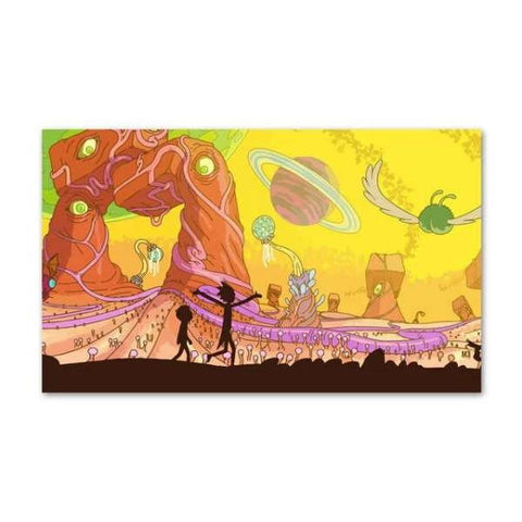 Poster Rick et Morty Paysage extraterrestre
