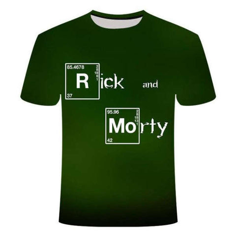 T-shirt Rick et Morty Breaking Bad