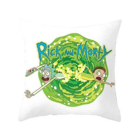 Housse de Coussin Blanche Rick And Morty