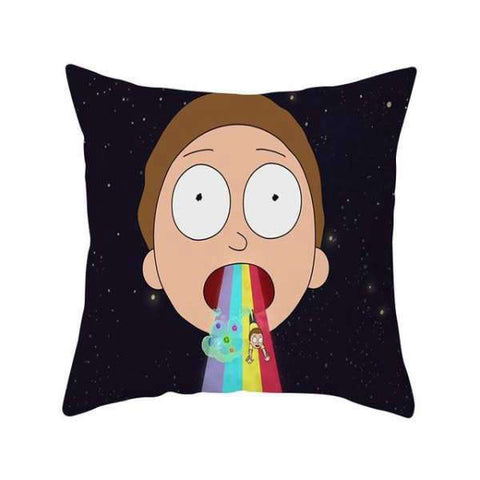 Housse de Coussin Morty Smith Arc en ciel