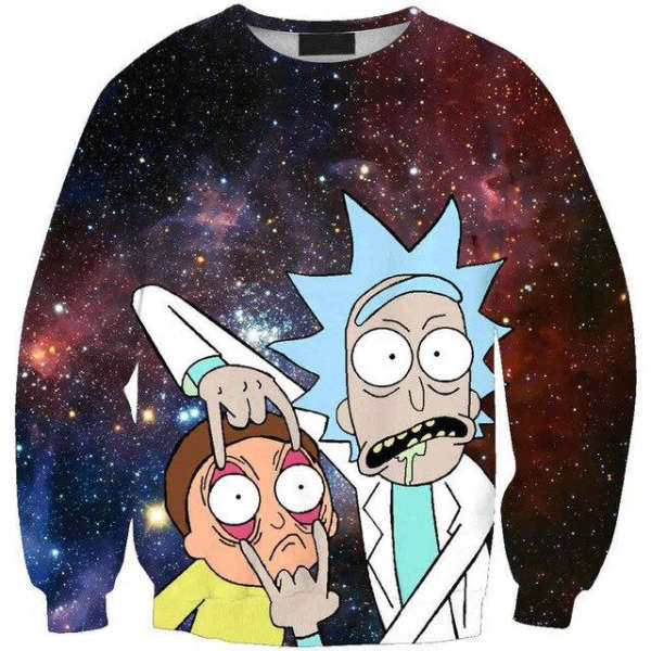 Pull Rick et Morty  Regarde Morty
