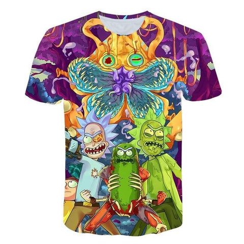 t-shirt 3D rick et morty