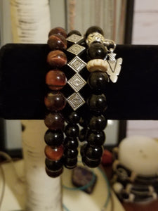 Red Tiger's Eye Men's Set/Unisex