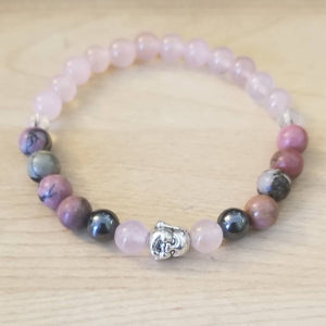RhodoQuartz Love Stretch Bracelet