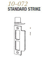 10-072 Standard Strike & Ext Lip - Doors and Specialties Co.