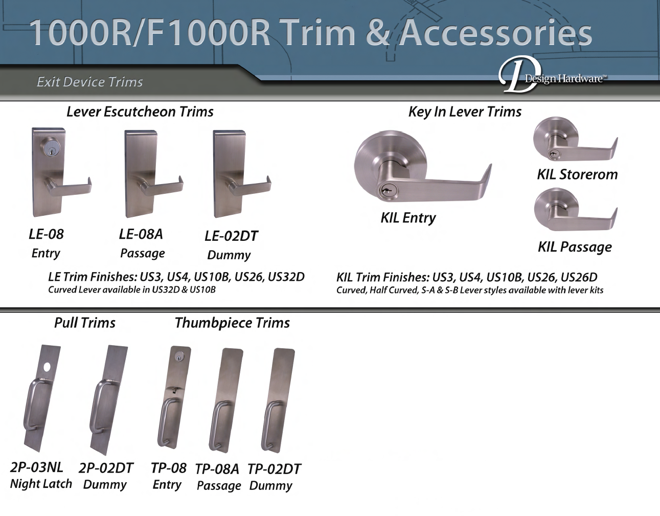 1000R Grade 1 Heavy Duty Rim Exit Device (Non Fire Rated)