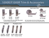 1000R Grade 1 Heavy Duty Rim Exit Device (Non Fire Rated) - Doors and Specialties Co.