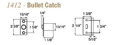 Taymor 1412 Bullet Catch - Doors and Specialties Co.