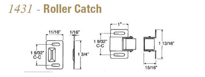 Taymor 1431 Roller Catch - Doors and Specialties Co.