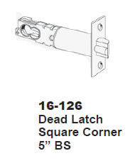 16-126 Dead Latch - Doors and Specialties Co.