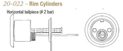 20-022 Rim Cylinders - Doors and Specialties Co.
