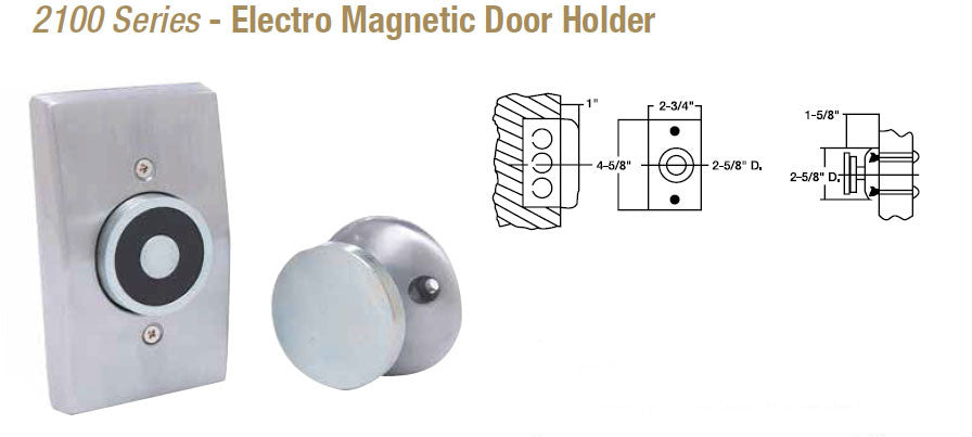 Doormerica 2100 Electro Magnetic Door Holder