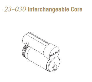 23-030 Interchangeable Core - Doors and Specialties Co.