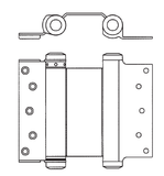 3029 ANSI K81041 Double Action Spring Hinge - Doors and Specialties Co.