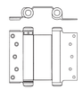 3029 ANSI K81041 Double Action Spring Hinge