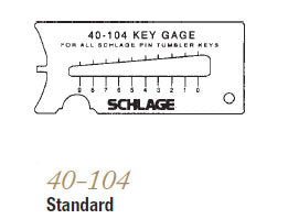 40-128 SFIC Key Gauge - Doors and Specialties Co.