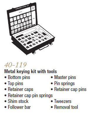 40-119 Metal Keying Kit with Tools - Doors and Specialties Co.