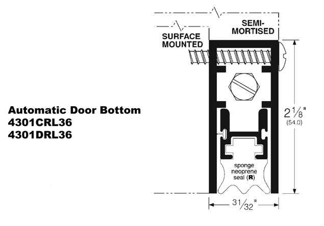 Auto Door Bottom-4301RL
