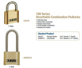 180 Series Resettable Combination Padlocks - Doors and Specialties Co.