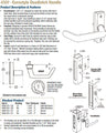 4569 Eurostyle Deadlatch Handle - Doors and Specialties Co.