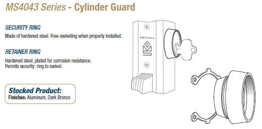 MS4043 Cylinder Guard - Doors and Specialties Co.