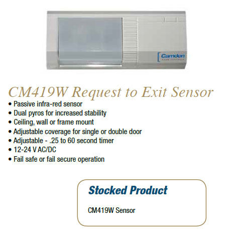 CM419W Request to Exit Sensor