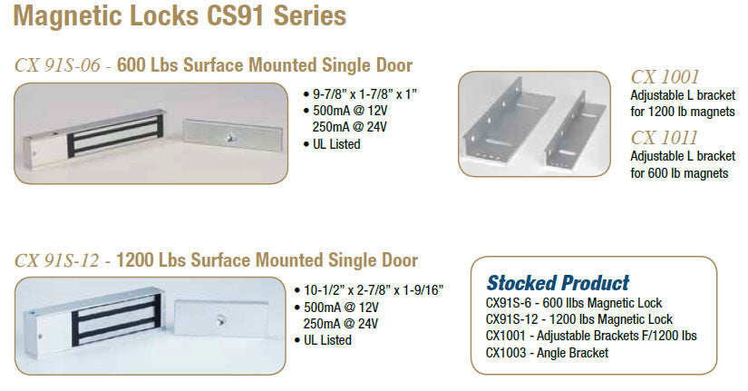 Magnetic Locks CS91 Series