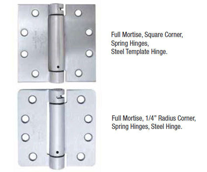 Commercial Weight Spring Hinge - Doors and Specialties Co.