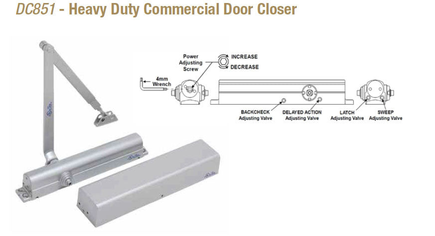 Doormerica Dc851 Heavy Duty Commercial Door Closer