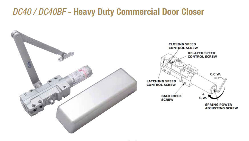Doormerica Dc40 Dc40bf Heavy Duty Commercial Door Closer