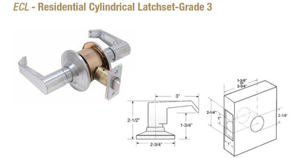 ECL Residential Cylindrical Latchset Grade 3 - Doors and Specialties Co.
