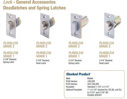 Deadlatches and Spring Latches - Doors and Specialties Co.