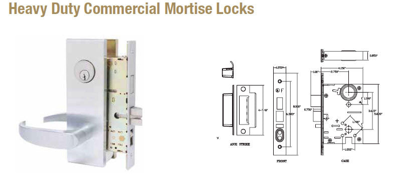 Doormerica Heavy Duty Commercial Mortise Locks