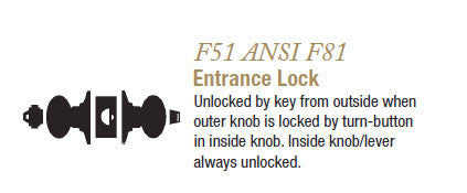 F51 Entrance Lock (Andover)
