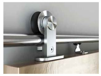 Premium Sliding Barn Door Hardware Wood Type 1 Soft Close