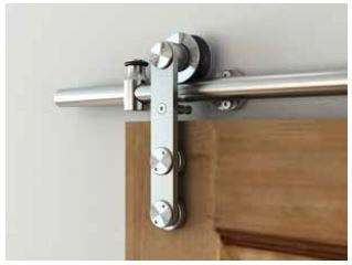 Premium Sliding Barn Door Hardware Wood Type 5