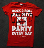 "2013 KISS RED LADIES ""MONSTER"" CANADIAN TOUR T-SHIRT! RNRAL.&..PED!"