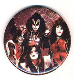 "1977 HOTLINE, INC. AUCOIN MANAGEMENT, INC. ""KISS GROUP SHOT"" LARGE BUTTON! EX+++"