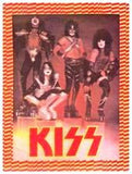 "1977 ORIGINAL OFFICIAL AUCOIN MANAGEMENT, INC. ""KISS ON BLOCKS / LOVE GUN ERA IRON-ON"" (UNUSED) TRANSFER! MINT!"