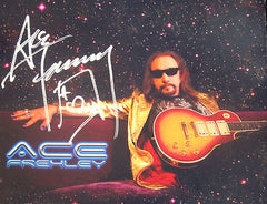 "2013 RARE ""ACE FREHLEY PERSONALLY AUTOGRAPHED COLOR 8"" x10"" PROMOTIONAL-ONLY PHOTO"" MINT!"