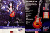 1996 ACE FREHLEY 2-SIDED GIBSON GUITARS PROMOTIONAL-ONLY POSTER! NrMINT