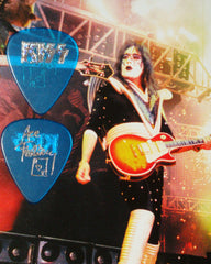 "2000 KISS CLEAR BLUE W/CIRCLE PRISM ""ACE FREHLEY FAREWELL TOUR"" GUITAR PICK MINT"