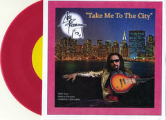 "1993 ORIGINAL HTF GERMAN ""ACE FREHLLEY TAKE ME TO THE CITY ON PINK VINYL!"""
