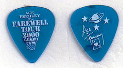 "2000 KISS OFFICIAL FAREWELL TOUR ""ACE FREHLEY CITY PICK - CALGARY 7-20"" GUITAR PICK MINT!"