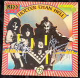 "1974 ACE FREHLEY PERSONALLY AUTOGRAPHED 1974 CASABLANCA RECORDS & FILMWORKS ""HOTTER THAN HELL"" LP! AWESOME PIECE! VERY FRAMABLE! EX+++!"